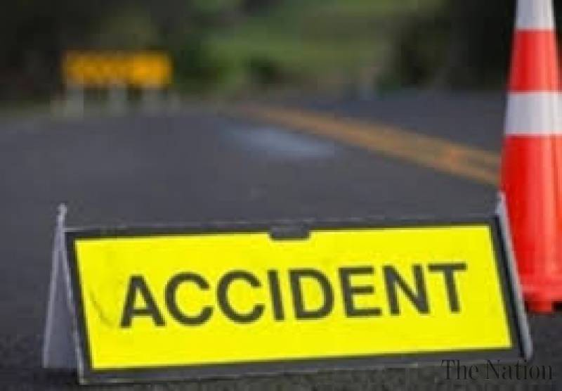 accident - Speedy vehicle runs over pedestrians. 1 person killed other seriously injured.