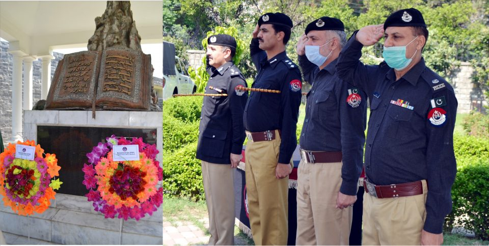 Saywriters 960x484 - Tribute paid to the martyrs of Police.